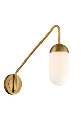 Firefly Swing-Arm Wall Sconce by Lite Source - Aged Gold