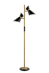 Jared Two-Light Modern Floor Lamp by Lite Source