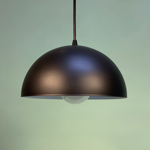 Modern Half-Dome Pendant Light in Black by Practical Props