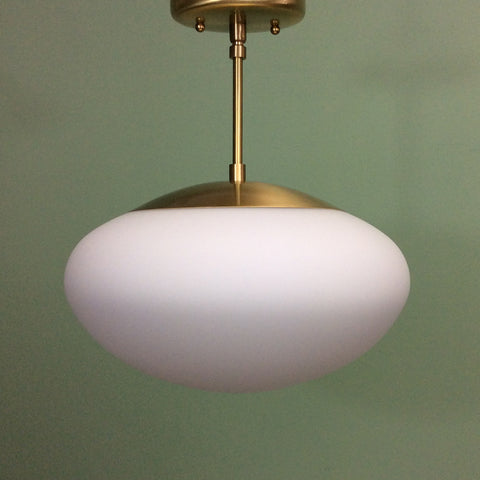Mushroom Globe Mid Century Pendant Light by Practical Props