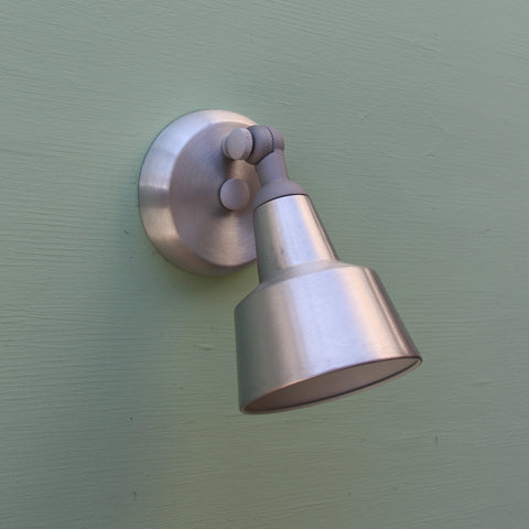 Swedish Modern Bullet Exterior Wall Sconce by Remcraft