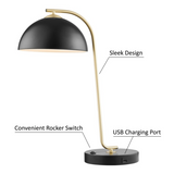 Roden Modern Desk Lamp with USB Port by Light Source - Midcentury Modern Lighting by Practical Props