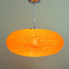 Orange Spun Acrylic Spaghetti Pendant Light by Practical Props