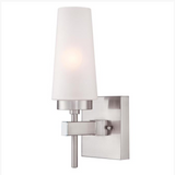 Chaddsford Modern Wall Sconce by Westinghouse in Satin Nickel