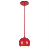 Adjustable Mini Modern Globe Pendant by Westinghouse - Red