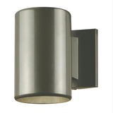 Modern Round Exterior Downlight Wall Sconce in Polished
