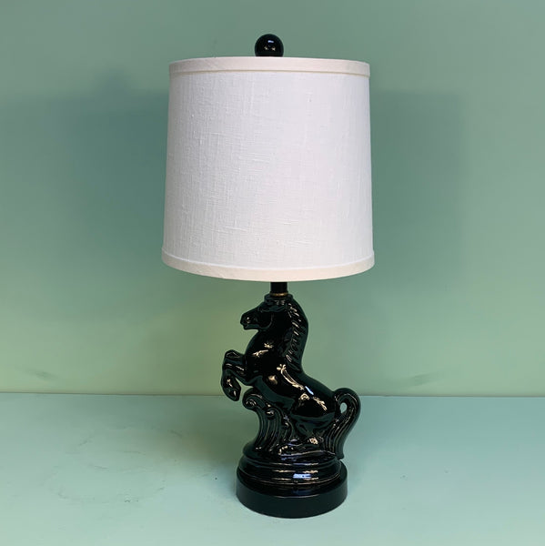 Ceramic Stallion Accent Lamp