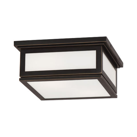 Bradley Square Bronze Flush Mount by Robert Abbey