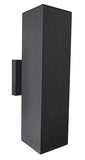 Modern Square Exterior Up Down Wall Sconce Black