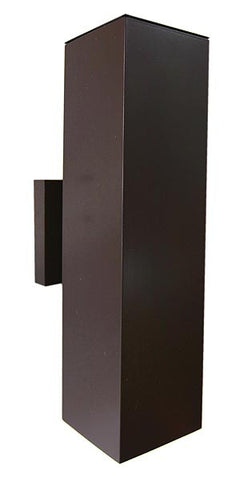 Modern Square Exterior Up Down Wall Sconce Bronze