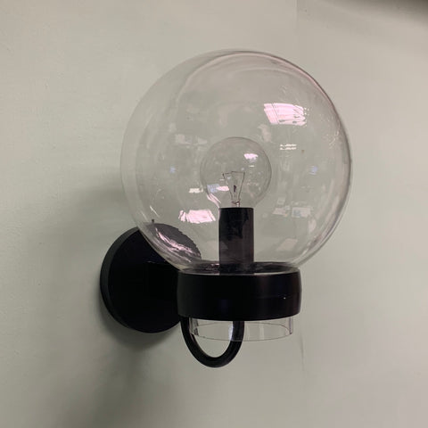 Vintage Exterior Modern Clear Globe Wall Sconce