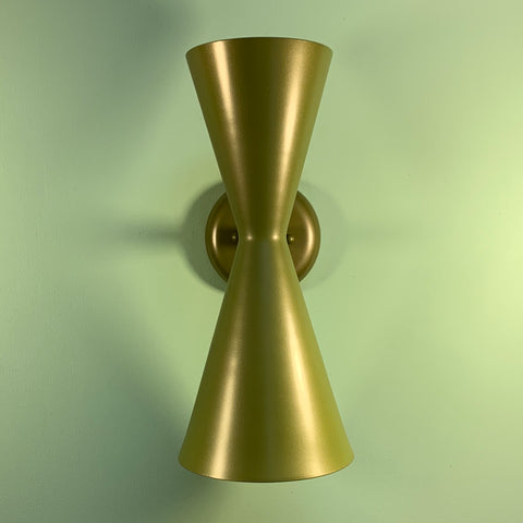 Discounted Gold Exterior Pinhole Dual Cone Sconces - Midcentury Modern Lighting by Practical Props