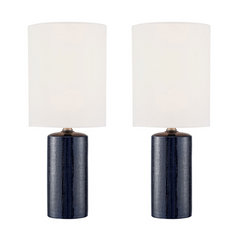 "Pair of Navy Blue ""Jackie"" Table Lamps"