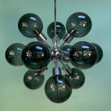 Vintage Lightolier Chrome Sputnik Chandelier with Smoked Globes - Practical Props