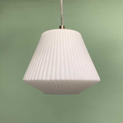 Retro Ribbed Glass Modern Mini Pendant by Westinghouse