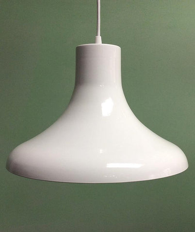 Modern Gloss White Shade Pendant Light Fixture