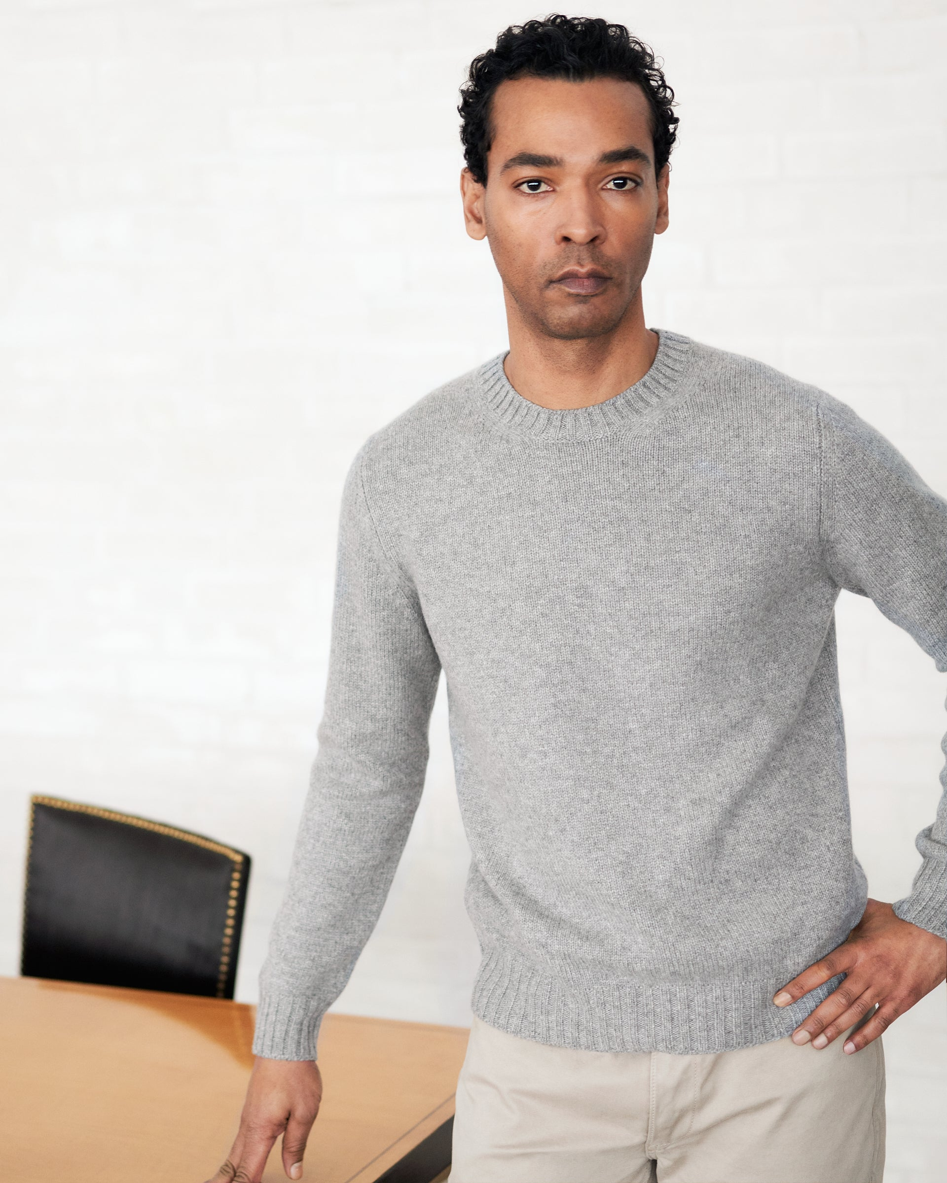 Cneck 4ply Cashmere - Grey