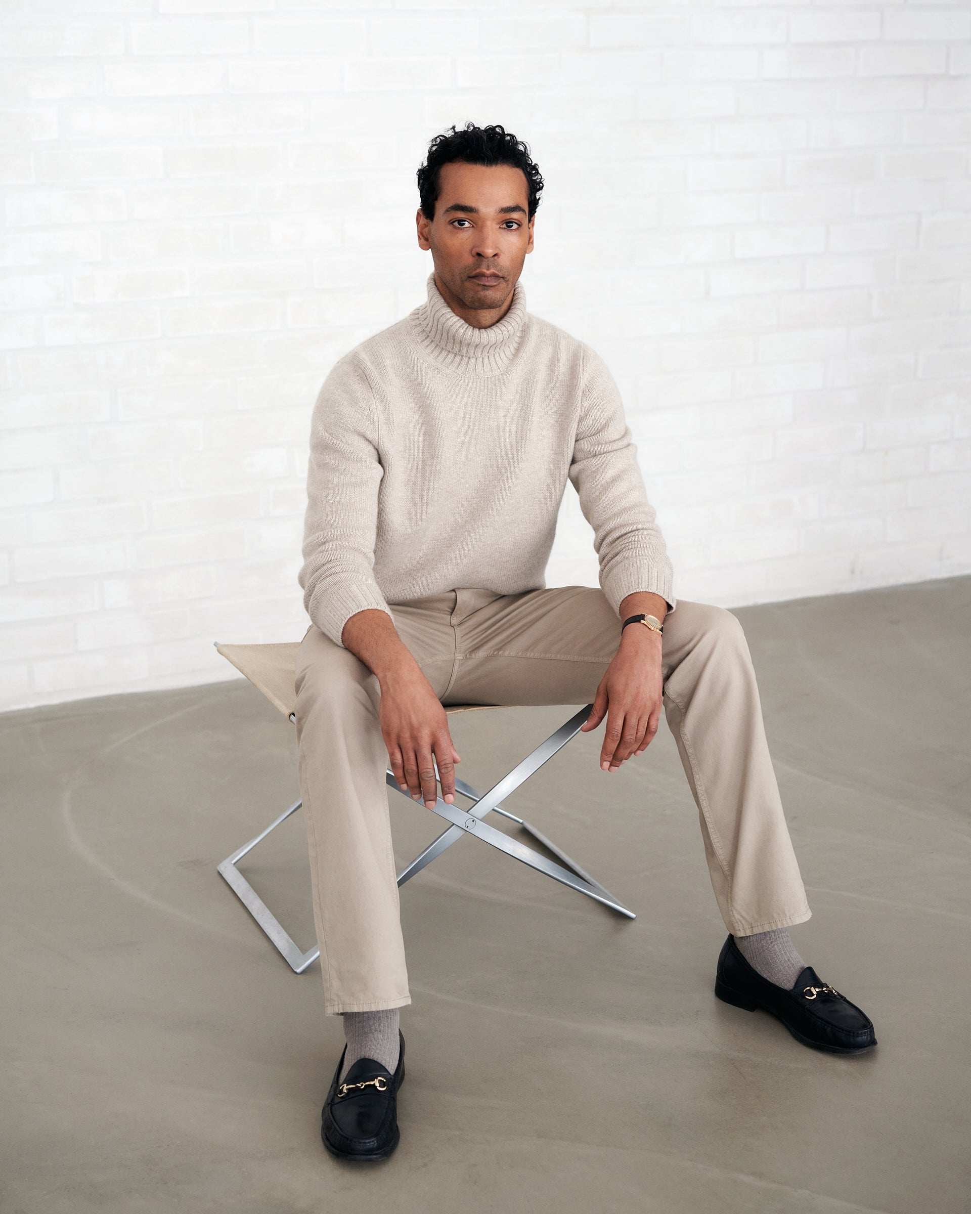Rollneck 4ply Cashmere - Beige