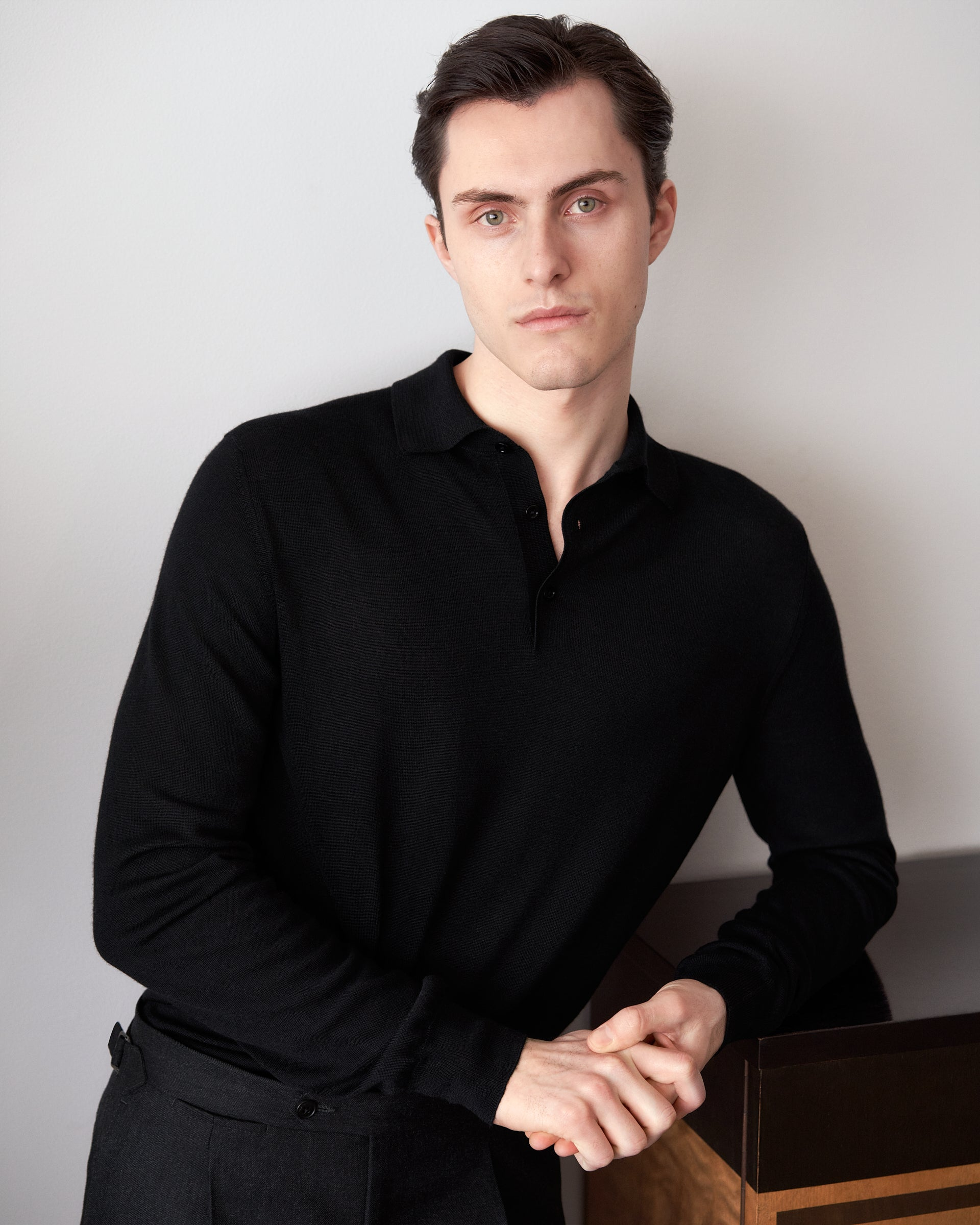 Polo Cashmere/Silk - Black