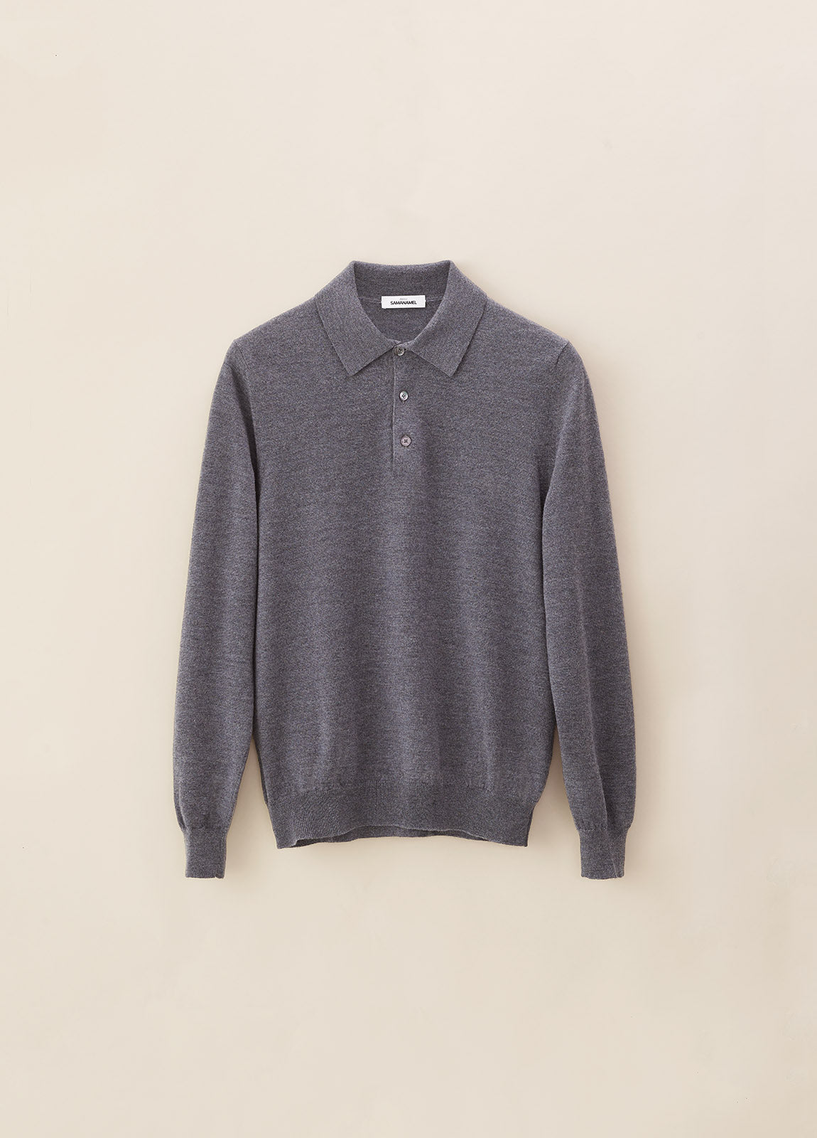Polo Merino - Grey