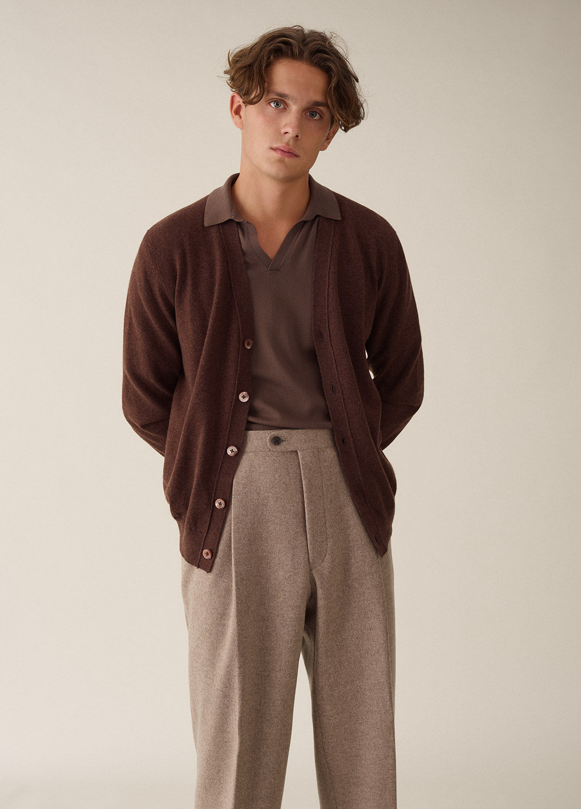 Cardigan Cashmere - Brown