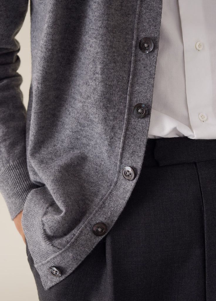 Amo Cardigan Cashmere - Light Grey
