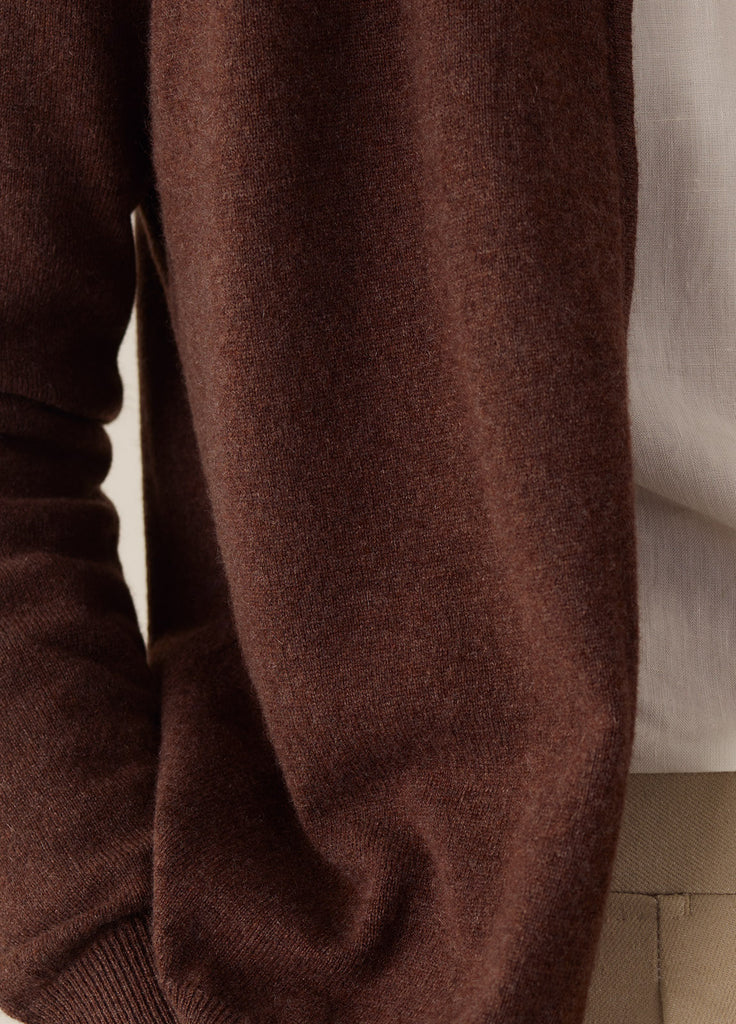 Amo Full Zip Cashmere - Brown