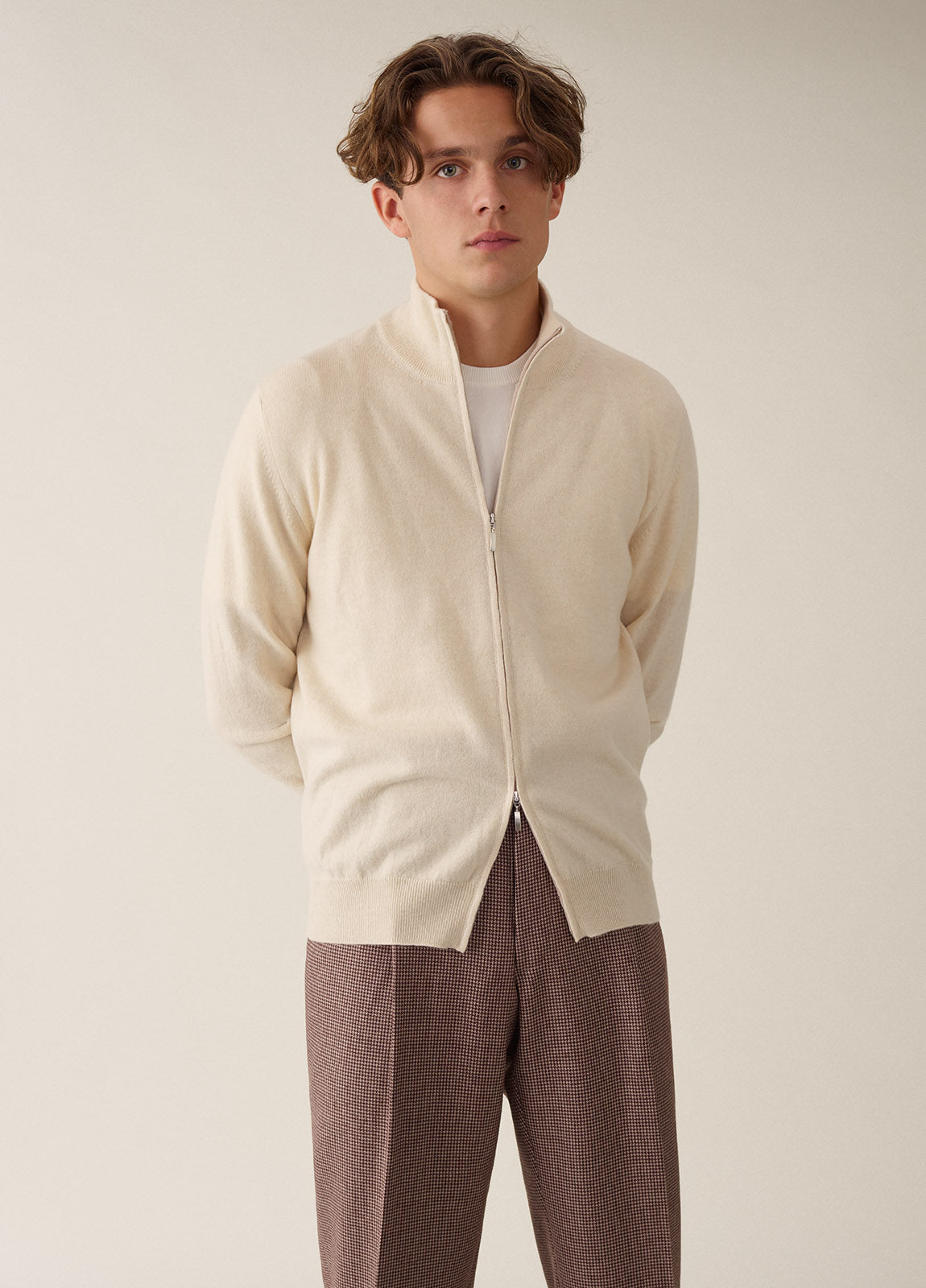 Full Zip Cashmere - Off White