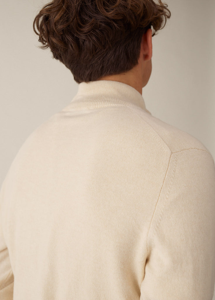Amo Full Zip Cashmere - Off White