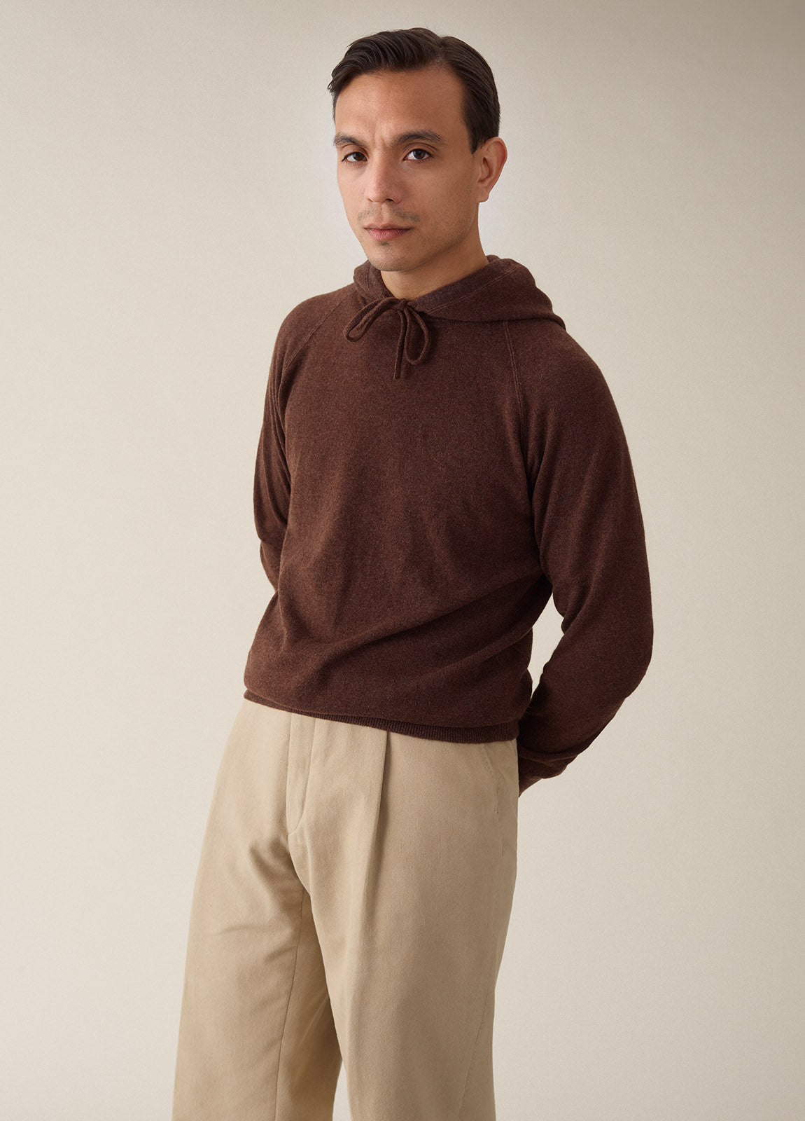 Hoodie Cashmere - Brown