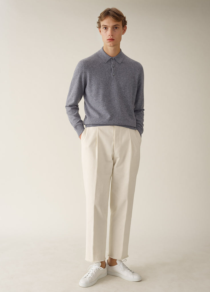Amo Polo Cashmere - Light Grey