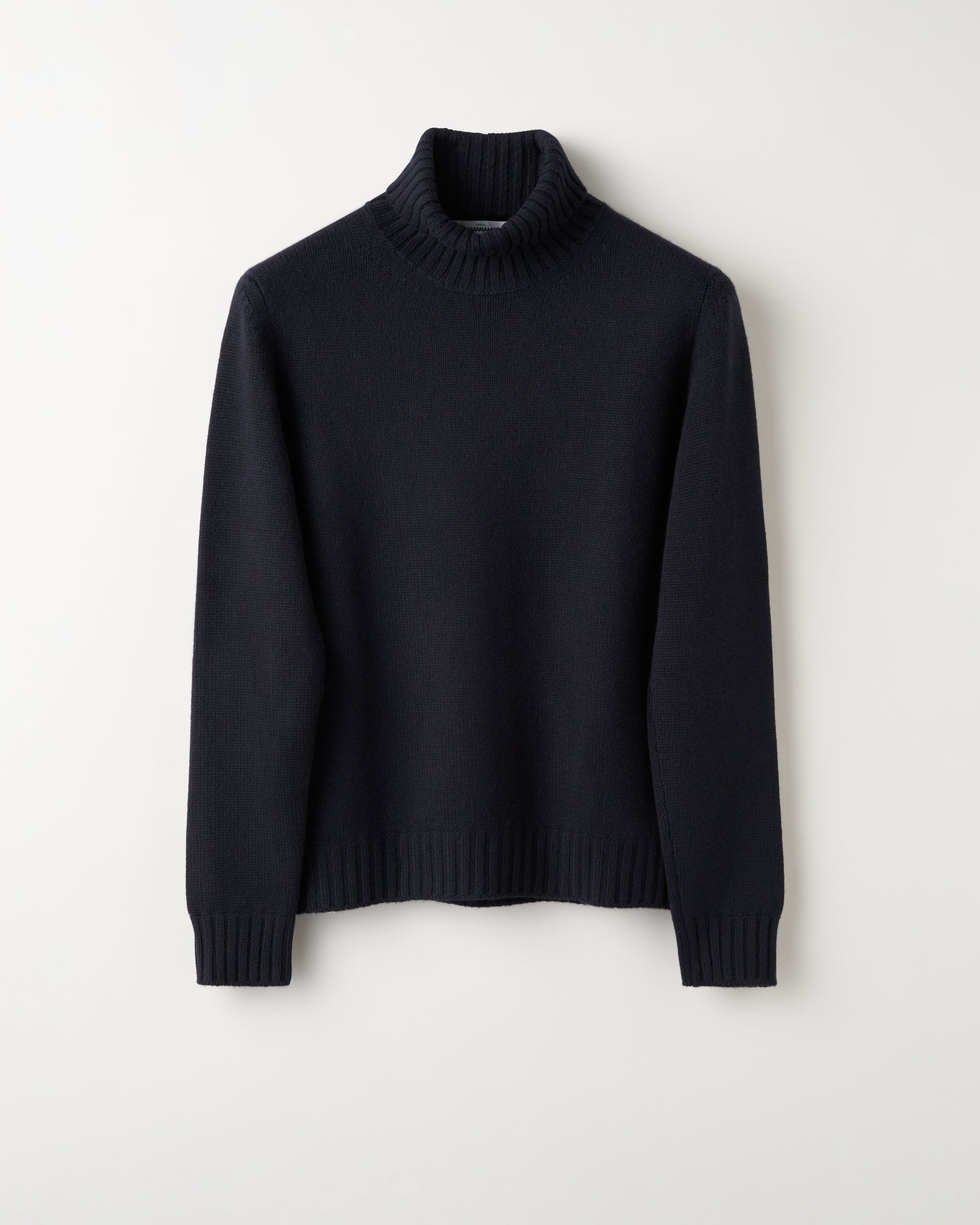 Rollneck 4ply Cashmere - Navy