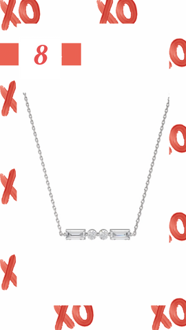 Morse Code Initial necklace