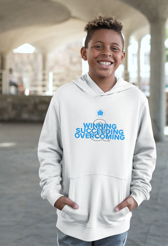Children's Winning Succeeding Overcoming Hoodie (Pre-Order)