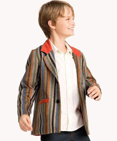 boys striped jacket casual or smart look with white shirt