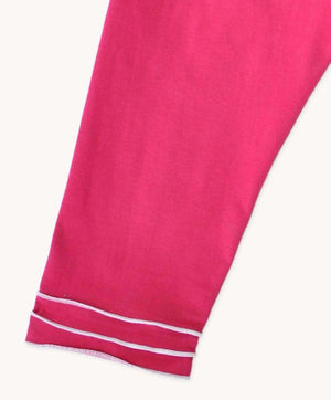 3/4 Trim Leggings - Hot Pink