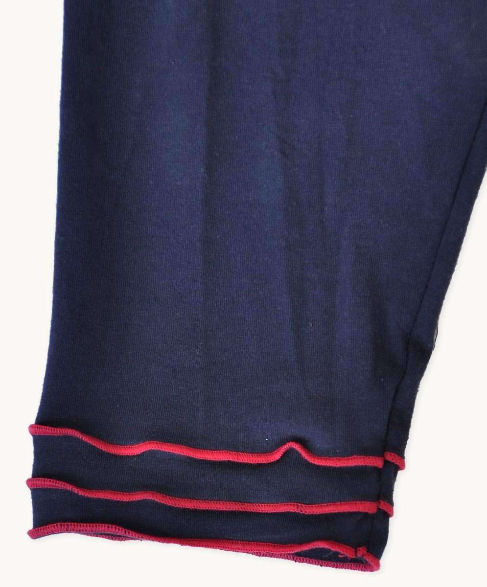 3/4 Trim Leggings - Navy
