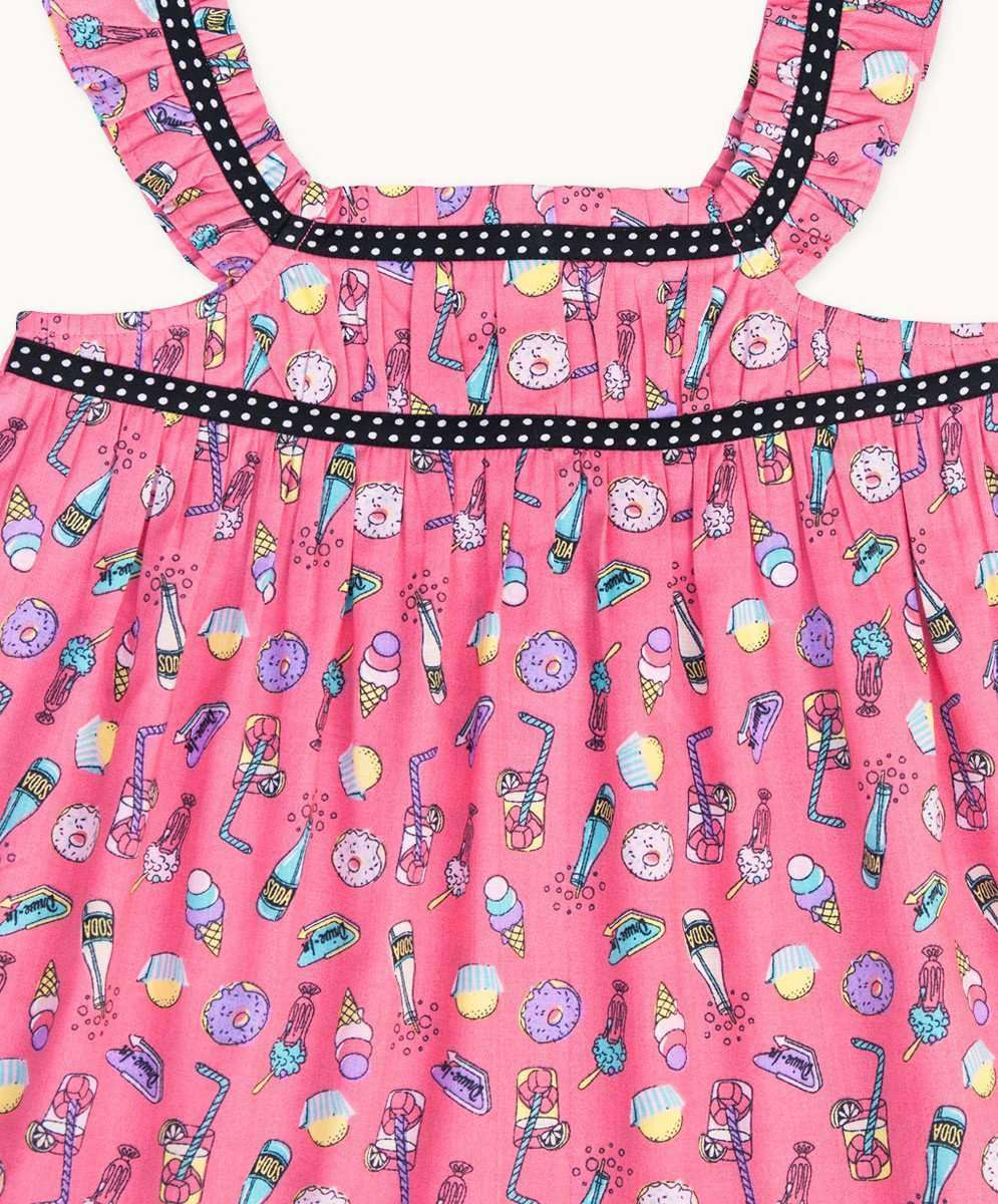 812927f001 Adorable Candy Time Gathered Top