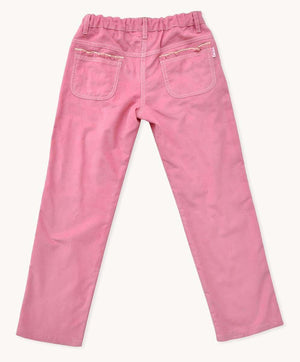 Antique Rose Corduroy Ruffle Pants
