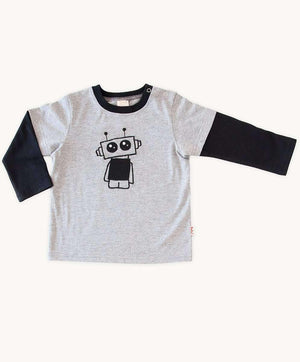 Baby Boys Grey Robot Tee