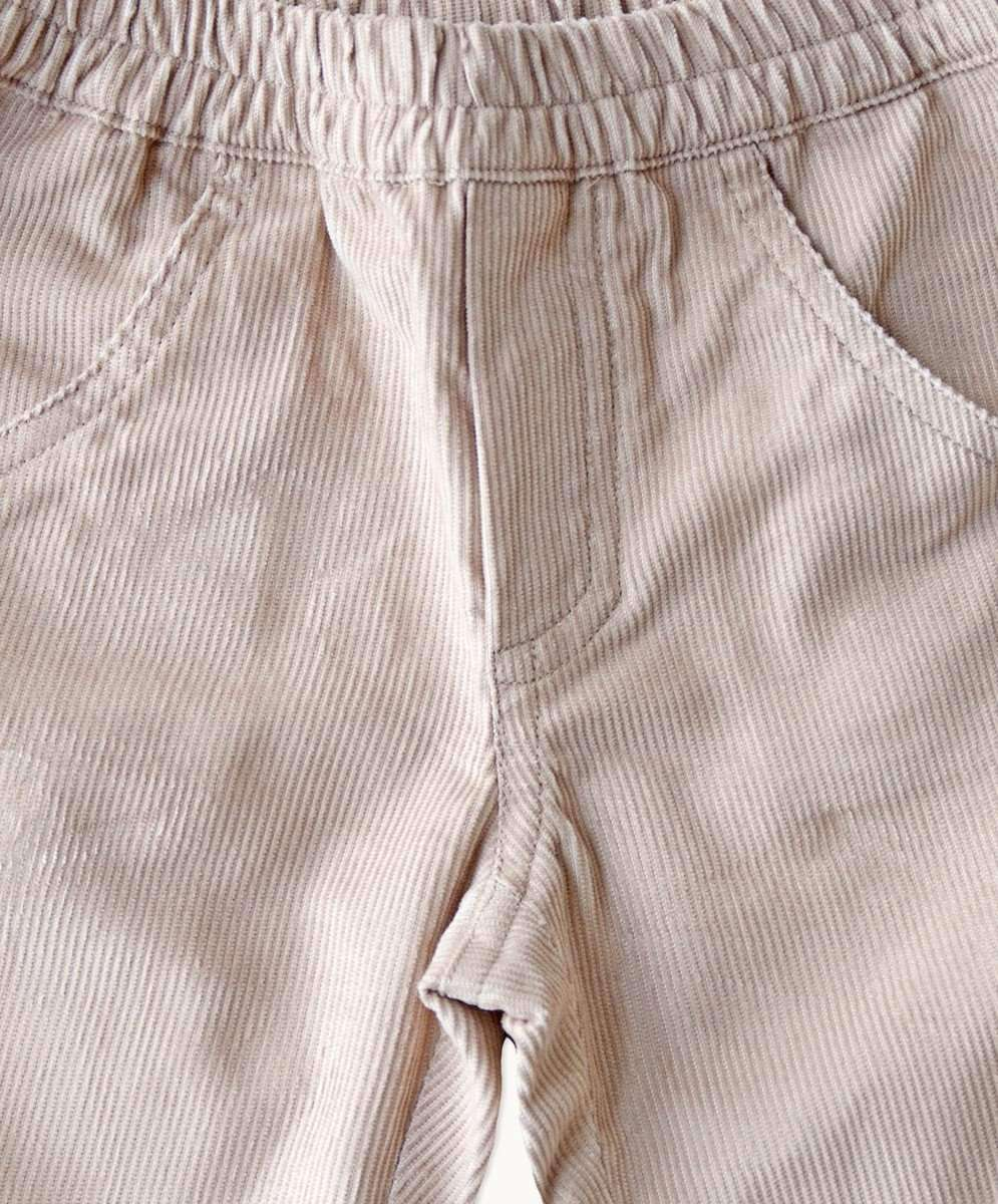 Beige Corduroy Toddler Pants