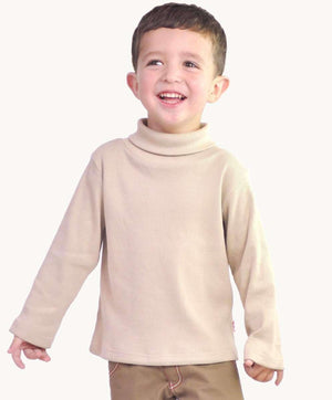 Beige Cotton Rib Skivvy