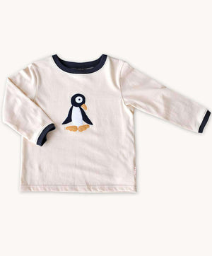 Beige Penguin Long Sleeve Tee