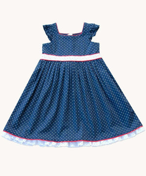 Betty Blue Polka Dot Dress