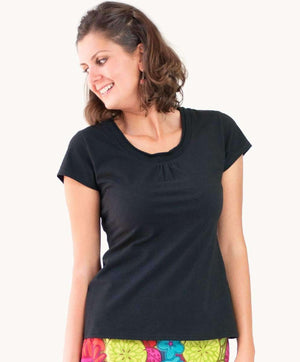 Black Scoop Neck T-shirt