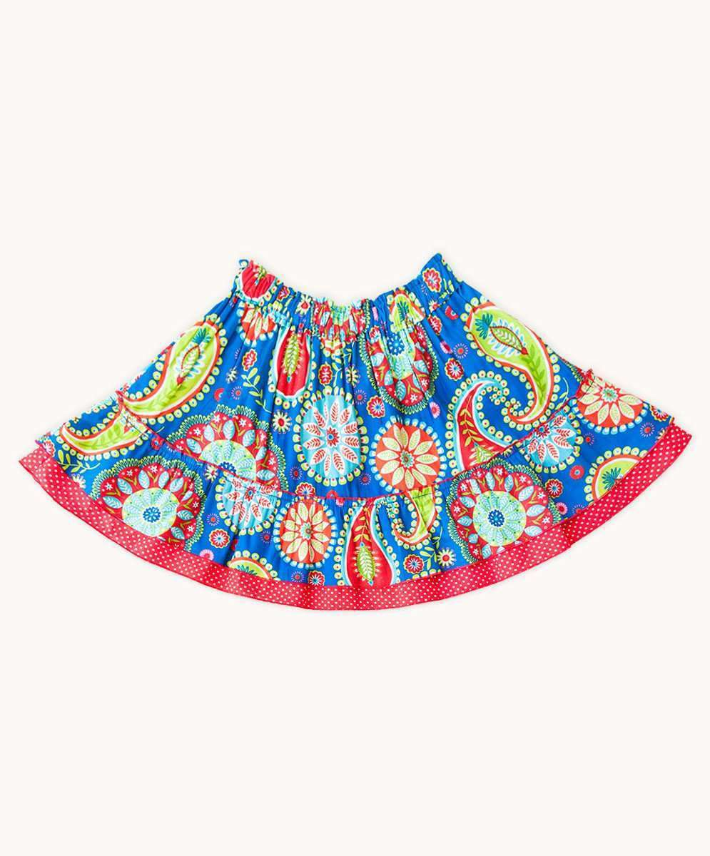 Blue Carnival Summer Skirt