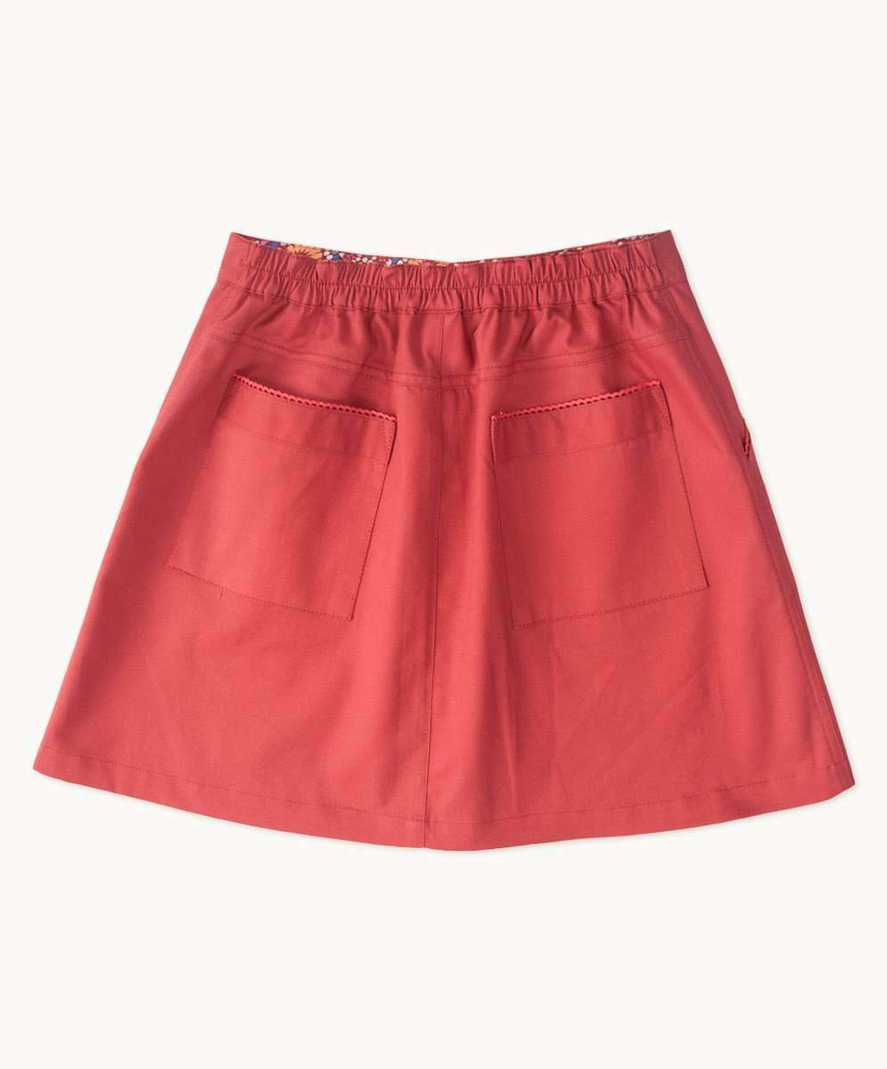 Brick Red Aline Skirt