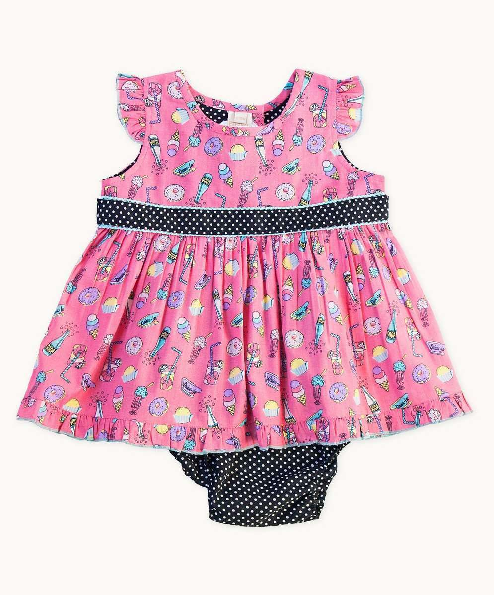Candy Time Ruffle Trim Baby Set