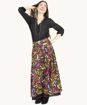 Cardinal Flare Big Button Skirt