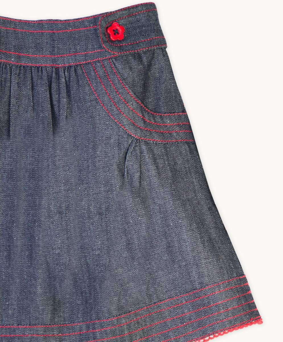 Charcoal Denim Skirt